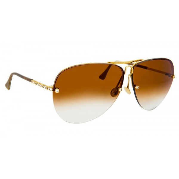 Linda Farrow - Fine Jewellery 3 C2 Oversized Sunglasses - Linda Farrow Fine Jewellery - Linda Farrow Eyewear