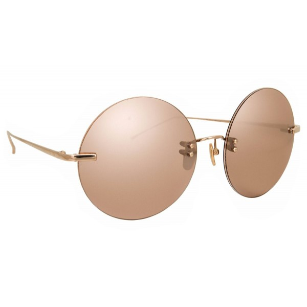 Linda Farrow - Fine Jewellery 14 C3 Round Sunglasses - Linda Farrow Fine Jewellery - Linda Farrow Eyewear