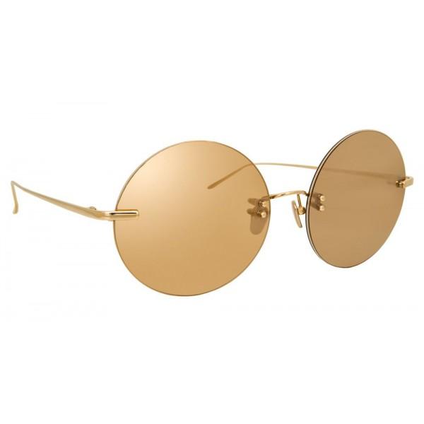 20c4abd56b Linda Farrow - Fine Jewellery 14 C1 Round Sunglasses - Linda Farrow Fine  Jewellery - Linda