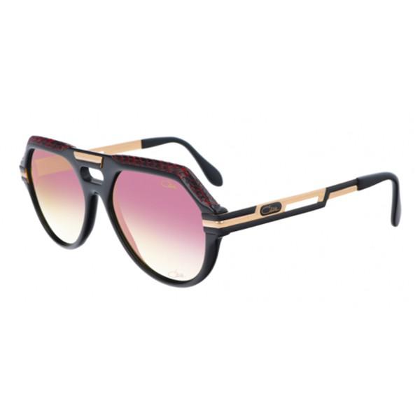 Cazal - Vintage 657 in Pelle - Legendary - Limited Edition - Rosso - Nero - Occhiali da Sole - Cazal Eyewear