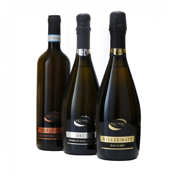 Riccardo - Prosecco 6 Bottiglie Miste -  D.O.C. - D.O.C.G.