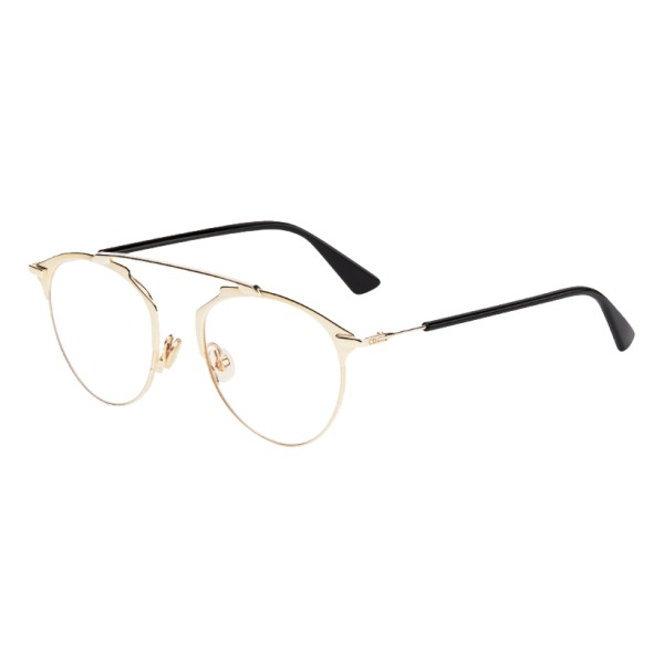 Dior - Eyeglasses - DiorSoRealO - Black & Gold - Dior Eyewear