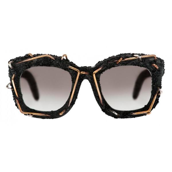 Kuboraum - Mask B2 - Opera - Nero Opaco, Argento e Bronzo - B2 BM OP - Occhiali da Sole - Kuboraum Eyewear