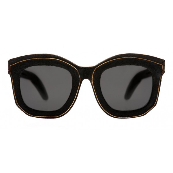 Kuboraum - Mask B2 - Gold Bordered - B2 BM BT GoldB - Sunglasses - Kuboraum Eyewear