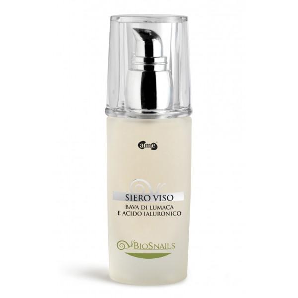 A. Me. Cosmetics - Aura Mediterranea - BioSnails - Siero Viso Ristrutturante alla Bava di Lumaca - Linea Viso