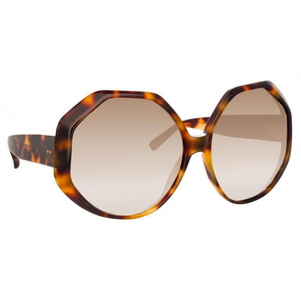 Linda Farrow - Occhiali da Sole Oversize 780 C2 - Tartaruga - Linda Farrow Eyewear