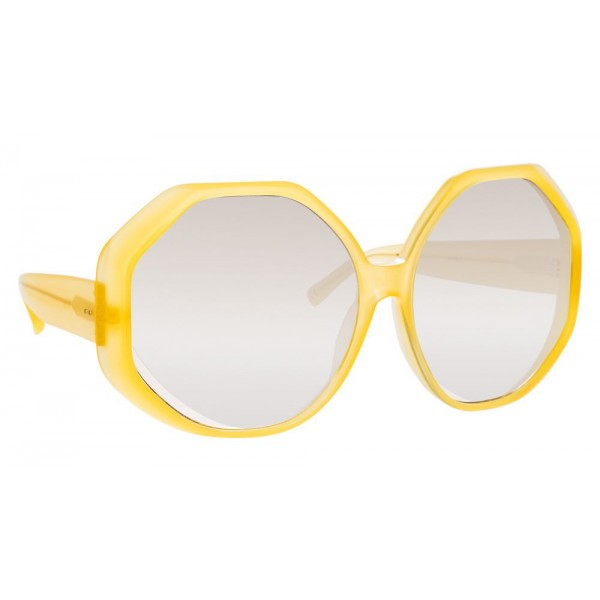 Linda Farrow - 780 C5 Oversized Sunglasses - Yellow - Linda Farrow Eyewear