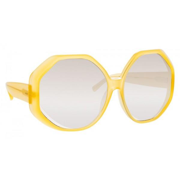 Linda Farrow - Occhiali da Sole Oversize 780 C5 - Giallo - Linda Farrow Eyewear