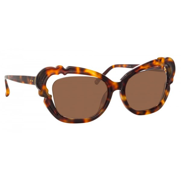 Linda Farrow - 824 C2 Cat Eye Sunglasses - Tortoise - Linda Farrow Eyewear