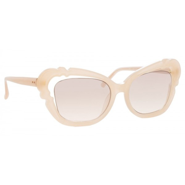 Linda Farrow - 824 C3 Cat Eye Sunglasses - Milky - Linda Farrow Eyewear