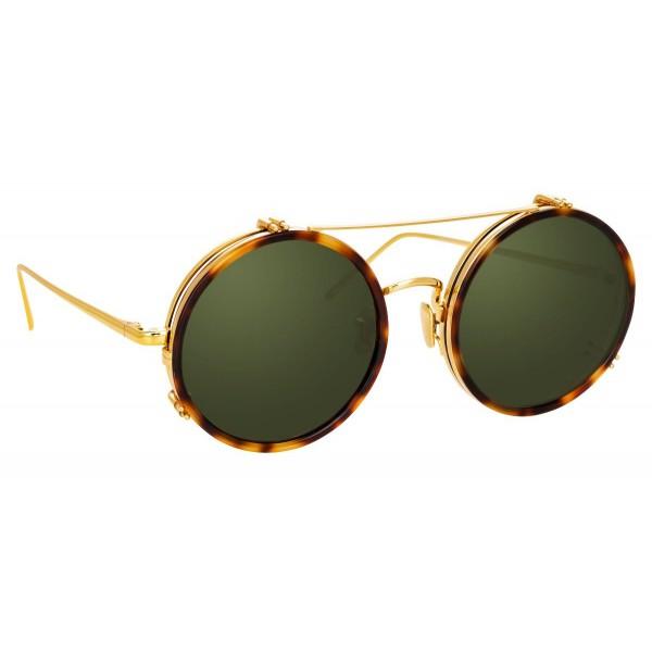 Linda Farrow - Occhiali da Sole Rotondi 741 C5 - Tartaruga - Linda Farrow Eyewear
