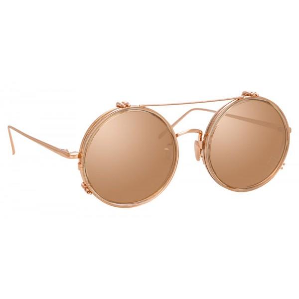Linda Farrow - Occhiali da Sole Rotondi 741 C6 - Cenere - Linda Farrow Eyewear
