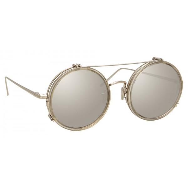 Linda Farrow - Occhiali da Sole Rotondi 741 C7 - Tartufo - Linda Farrow Eyewear