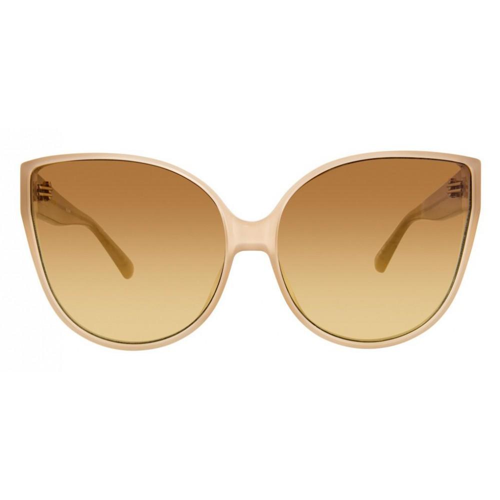 023e002d927 ... Linda Farrow - 656 C8 Cat Eye Sunglasses - Milky Tobacco - Linda Farrow  Eyewear ...