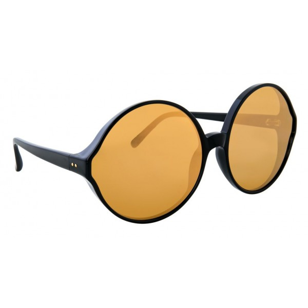 Linda Farrow - Occhiali da Sole Rotondi 657 C2 - Neri - Linda Farrow Eyewear