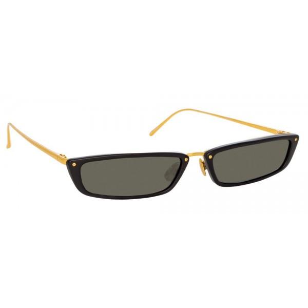 3a877585077 Linda Farrow - 838 C1 Rectangular Sunglasses - Black - Linda Farrow Eyewear