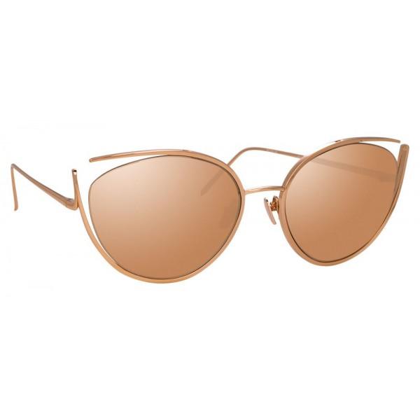 4b40c75af70 Linda Farrow - 668 C3 Cat Eye Sunglasses - Rose Gold - Linda Farrow Eyewear  - Avvenice