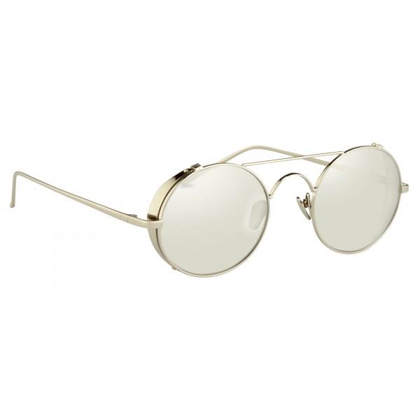 27bda4ac42 Linda Farrow - 427 C2 Oval Sunglasses - White Gold - Linda Farrow Eyewear -  Gigi Hagid - Elle Macpherson - Official - Avvenice