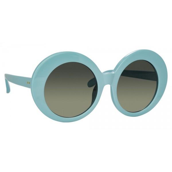 6911486846d Linda Farrow - 468 C17 Round Sunglasses - Porcelain Blue - Linda Farrow  Eyewear - Avvenice