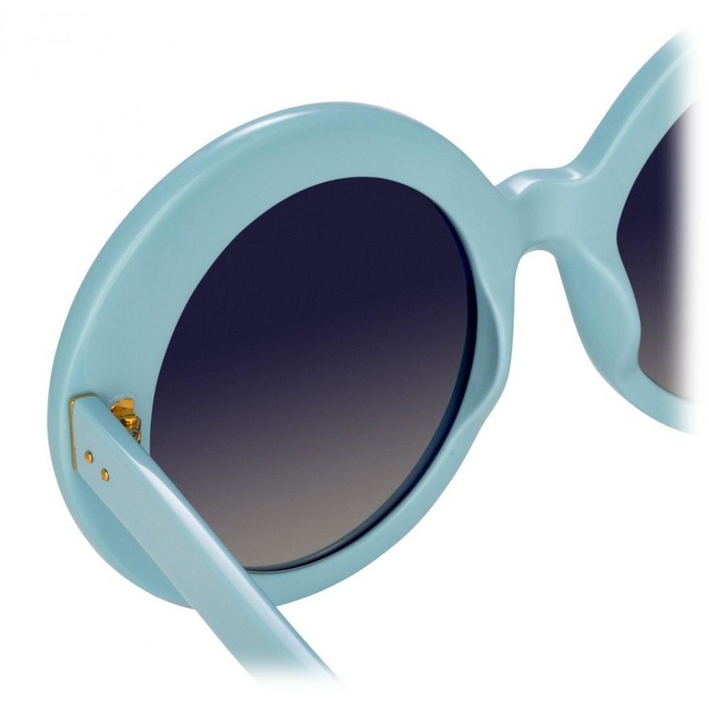 54b6e3204304 ... Linda Farrow - 468 C17 Round Sunglasses - Porcelain Blue - Linda Farrow  Eyewear ...
