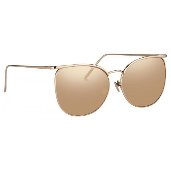 31d965ada0 Linda Farrow - 509 C3 Browline Sunglasses - Rose Gold - Linda Farrow Eyewear  - Gigi Hagid - Elle Macpherson - Official - Avvenice