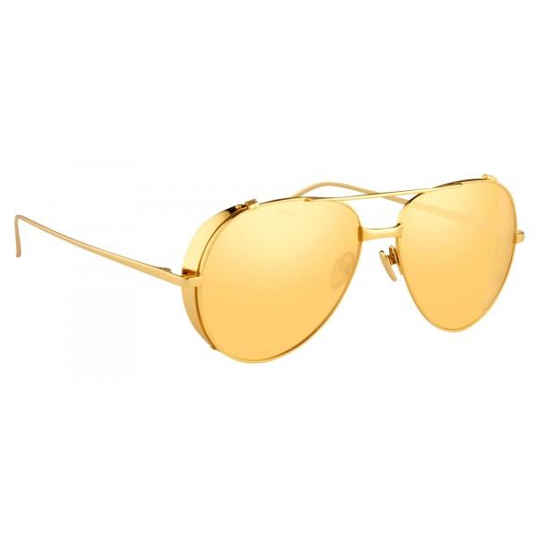 a7fbfcee3c Linda Farrow - 426 C1 Aviator Sunglasses - Yellow Gold - Linda Farrow  Eyewear - Avvenice