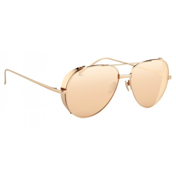 6df4b6e07cd9 Linda Farrow - 426 C3 Aviator Sunglasses - Rose Gold - Linda Farrow Eyewear  - Avvenice