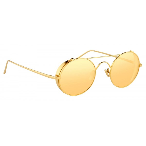 c7026813406 Linda Farrow - 427 C1 Oval Sunglasses - Yellow Gold - Linda Farrow Eyewear  - Gigi Hagid - Elle Macpherson - Official - Avvenice