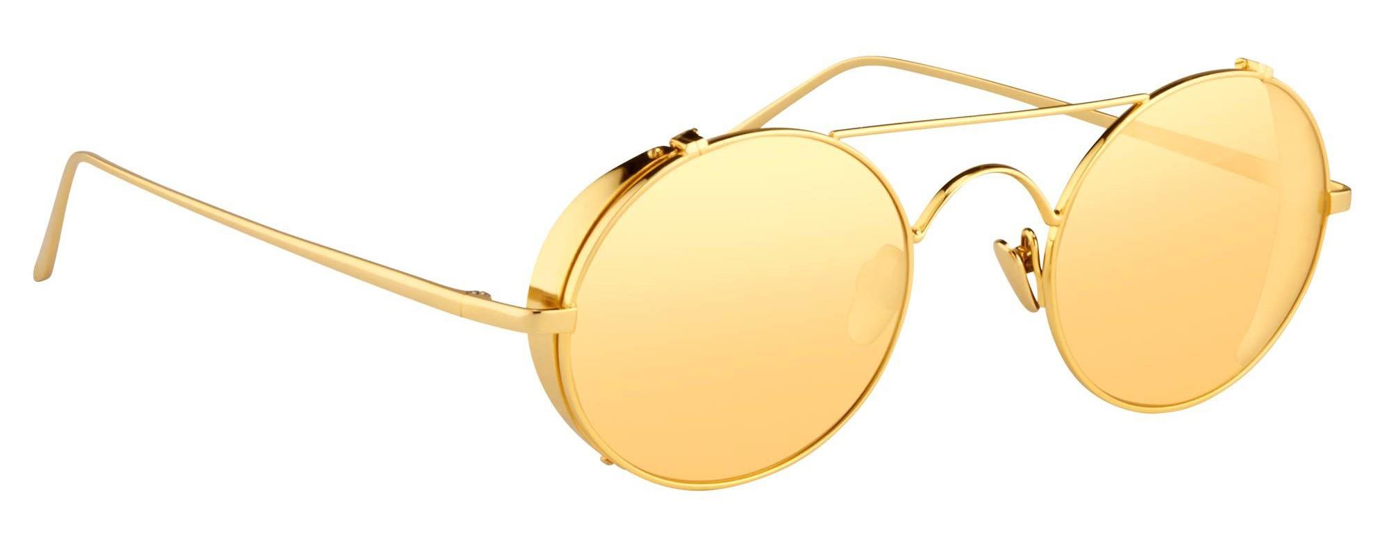 a520a362471 Linda Farrow - 427 C1 Oval Sunglasses - Yellow Gold - Linda Farrow Eyewear  - Gigi Hagid - Elle Macpherson - Official - Avvenice