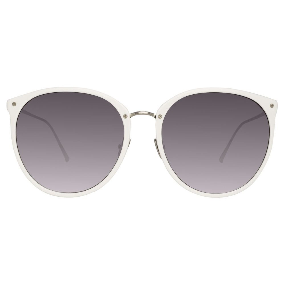 fc5f0fe521c Linda Farrow - 747 C4 Oversized Sunglasses - White - Linda Farrow Eyewear -  Avvenice