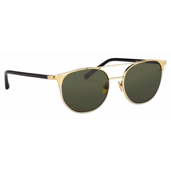 1dae92aa9a8e Linda Farrow - 421 C1 Browline Sunglasses - Yellow Gold - Linda Farrow  Eyewear - Karlie Kloss - Alessandra Ambrosio - Official - Avvenice