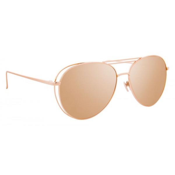 a539adbefd0 Linda Farrow - 575 C3 Aviator Sunglasses - Rose Gold - Linda Farrow Eyewear  - Avvenice