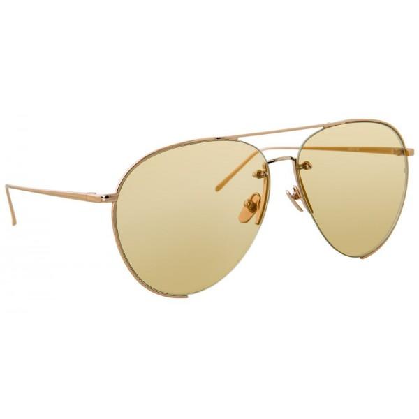 dc675f95947 Linda Farrow - 624 C7 Aviator Sunglasses - Rose Gold - Linda Farrow Eyewear  - Avvenice