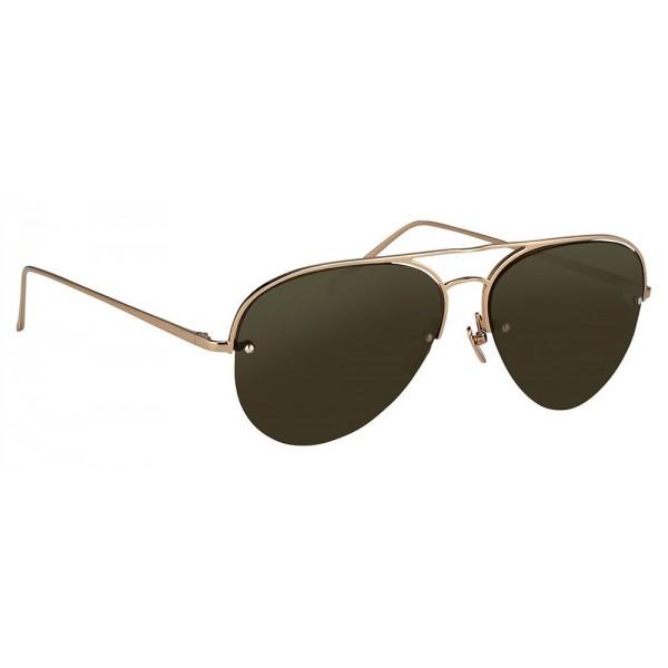 366f4f5aaa8 Linda Farrow - 543 C6 Aviator Sunglasses - Rose Gold - Linda Farrow Eyewear  - Avvenice