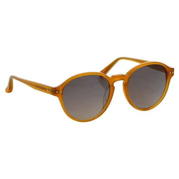 880ef4c6e5e Linda Farrow - 40 C10 Oval Sunglasses - Translucent Honey - Linda Farrow  Eyewear - Avvenice