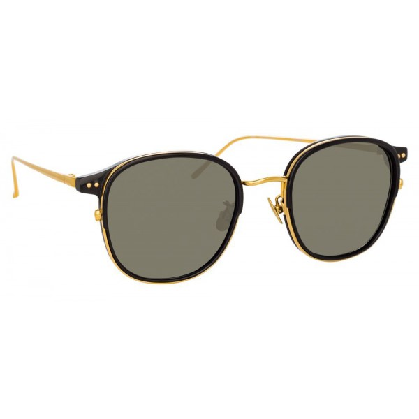 8357a32c1309 Linda Farrow - 803 C1 Square Sunglasses - Black - Linda Farrow Eyewear