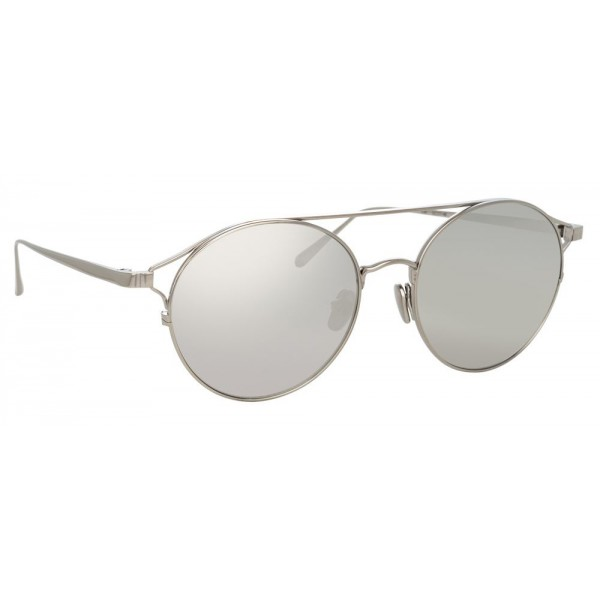9934193c7a09 Linda Farrow - 825 C2 Oval Sunglasses - White Gold - Linda Farrow Eyewear