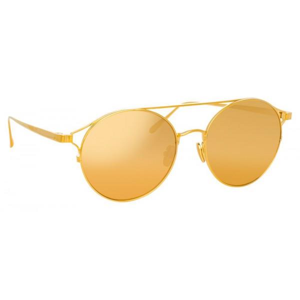 4ba1525f76 Linda Farrow - 825 C1 Oval Sunglasses - Yellow Gold - Linda Farrow Eyewear