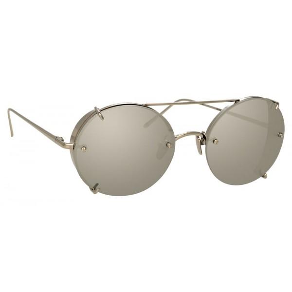 8a0b42b70460 Linda Farrow - 730 C2 Oval Sunglasses - White Gold - Linda Farrow Eyewear -  Avvenice