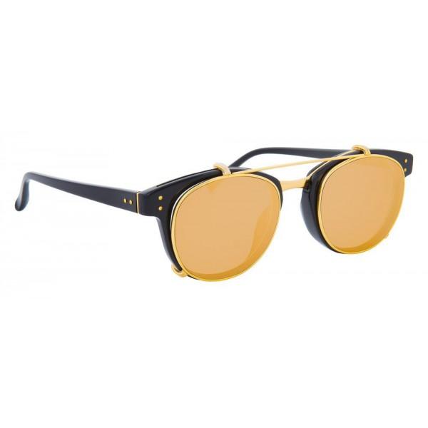 e107304d9f Linda Farrow - 581 C1 D-Frame Sunglasses - Black - Linda Farrow Eyewear -  Avvenice