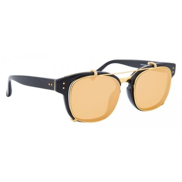 6c81309d6f0 Linda Farrow - 584 C1 Rectangular Sunglasses - Black - Linda Farrow Eyewear  - Avvenice
