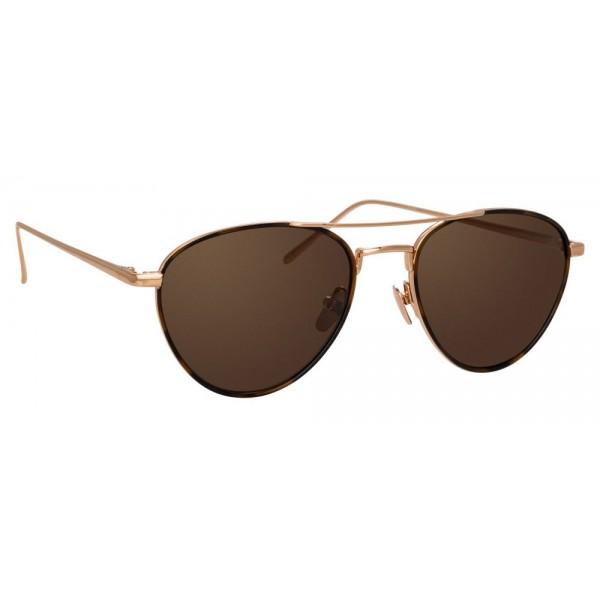 8373eabc429 Linda Farrow - 739 C8 Aviator Sunglasses - Rose Gold and Tortoiseshell - Linda  Farrow Eyewear - Avvenice