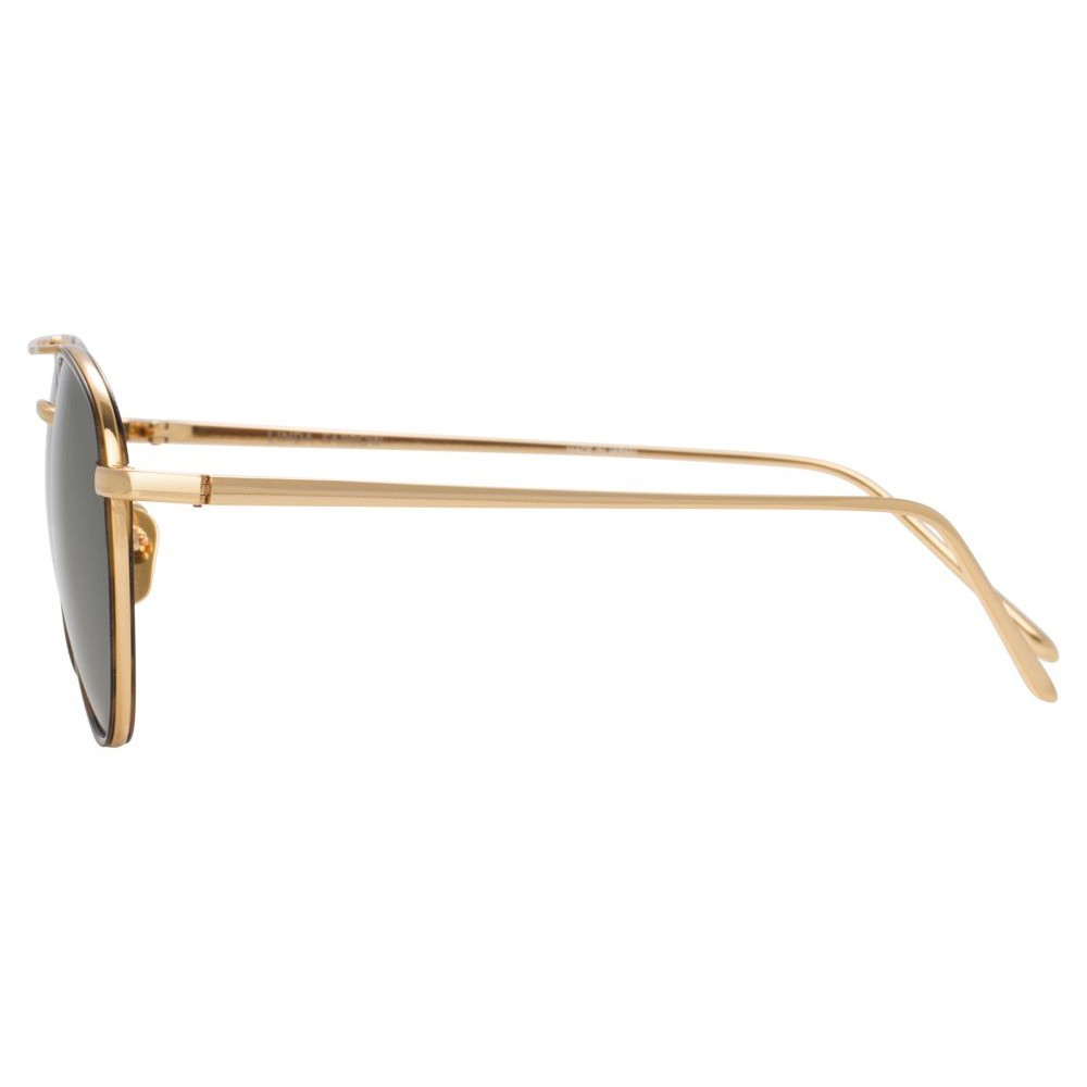 9f2a16fe3d ... Linda Farrow - 739 C4 Aviator Sunglasses - Yellow Gold and  Tortoiseshell - Linda Farrow Eyewear ...