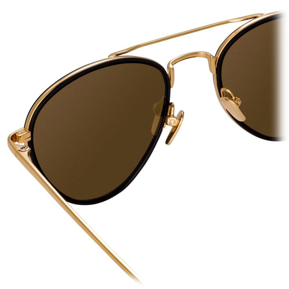 f4841bb967 ... Linda Farrow - 739 C1 Aviator Sunglasses - Yellow Gold   Black - Linda  Farrow Eyewear ...