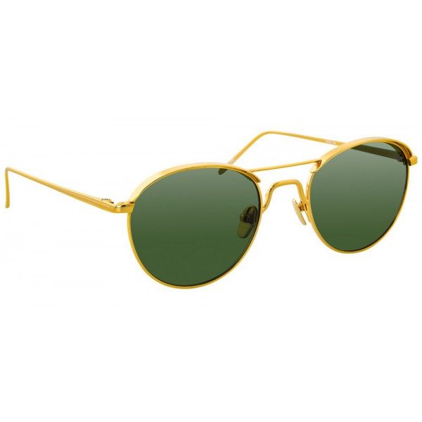 3c918d11e4f Linda Farrow - Occhiali da Sole Ovali 623 C5 - Oro Giallo - Linda Farrow  Eyewear
