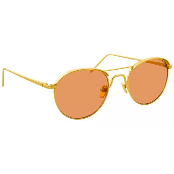 2fd887898a15 Linda Farrow - 623 C4 Oval Sunglasses - Yellow Gold - Linda Farrow Eyewear  - Avvenice