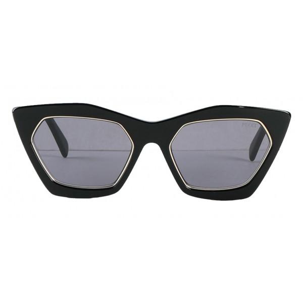 Emilio Pucci - Occhiali da Sole Cat-Eye Neri e Dorati - 46592166DP - Occhiali da Sole - Emilio Pucci Eyewear