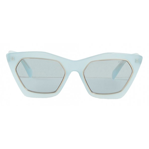 Emilio Pucci - Blue and Gold Cat-Eye Sunglasses - 46592167IU - Sunglasses - Emilio Pucci Eyewear