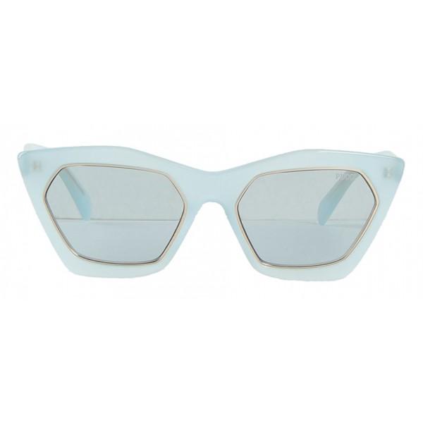 Emilio Pucci - Occhiali da Sole Cat-Eye Azzurri e Dorati - 46592167IU - Occhiali da Sole - Emilio Pucci Eyewear