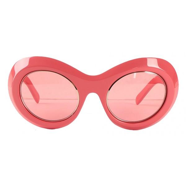 Emilio Pucci - Pink Round Sunglasses - 46592169IT - Sunglasses - Emilio Pucci Eyewear